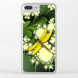 Yellow Dragonflies Clear iPhone Case