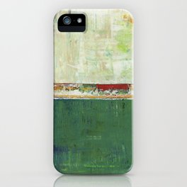 Limerick Irish Ireland Abstract Green Modern Art Landscape iPhone Case