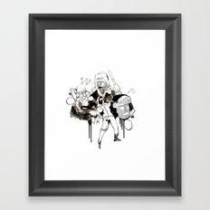 Paris Riots Framed Art Print