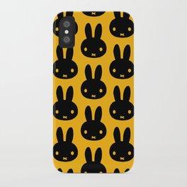 bunnies everywhere ultra pattern iPhone Case