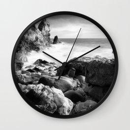 Corona del Mar beach in Southern California Wall Clock
