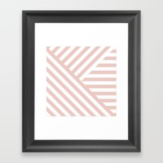 Geometric Quartz Framed Art Print