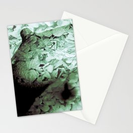 Green Floral Breasts Stationery Cards