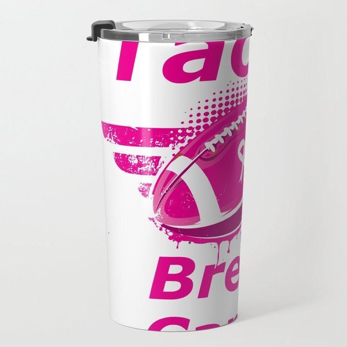 Football Breast Cancer Awareness Support Travel Mug