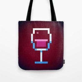 Pixel Wine Tote Bag