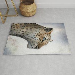 Leopard Watercolor Rug