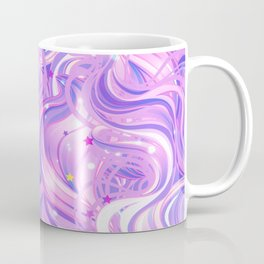 Pink & Purple Waves in the Stars Coffee Mug