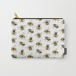 Fluffy Bumblebees (Pattern) Carry-All Pouch