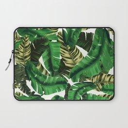 Swaying banana leaf palm green Laptop Sleeve