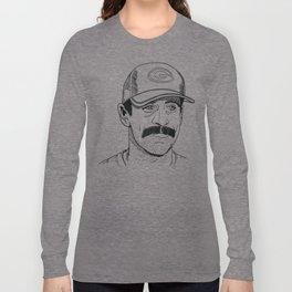 Mustachioed GOAT Long Sleeve T-shirt