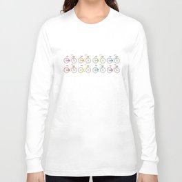 Rainbow Bicycles Long Sleeve T-shirt
