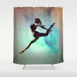Ballet Dancer Feat Lady Dreams Abstract Art Shower Curtain
