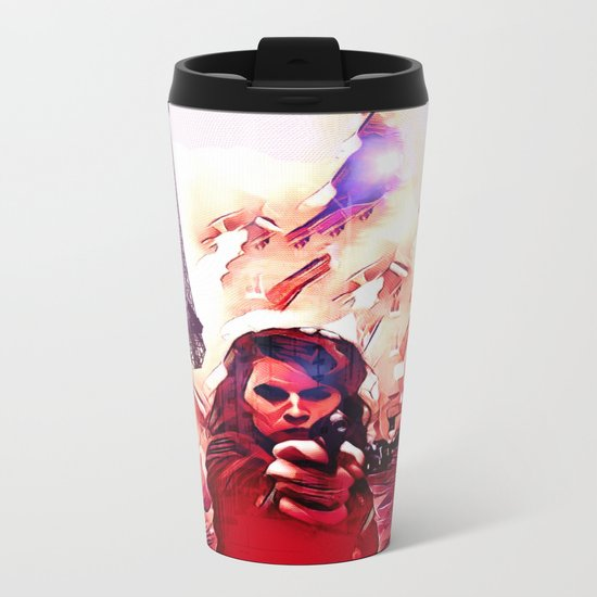 Fire Fight Metal Travel Mug