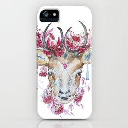 Watercolor Reindeer iPhone Case