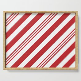 Red Candy Cane Stripes Serving Tray