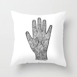 Pisces Hand / Hamsa Throw Pillow