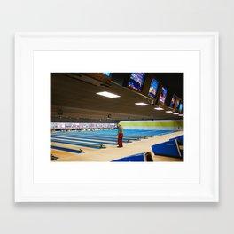 Old Man Bowling Framed Art Print