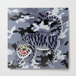 Camouflaged Korean Tiger Metal Print