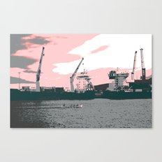 harbor rowing Canvas Print