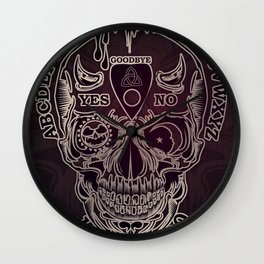 Ouija Skull Wall Clock