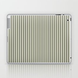 Trendy French Beige Mattress Ticking Black Double Stripes Laptop & iPad Skin