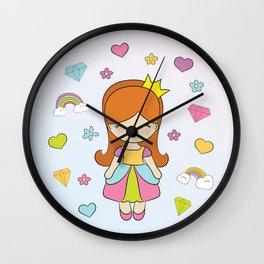 Princess and Diamonds Wall Clock