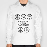 divergent Hoodies featuring Divergent - Choose your faction by Lunil