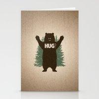 hug Stationery Cards featuring Bear Hug by powerpig