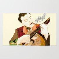 django Area & Throw Rugs featuring Django Reinhardt by Daniella Birtley
