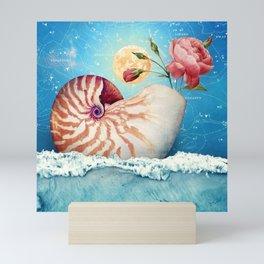 Fancy Nautilus Shell :: Fine Art Collage Mini Art Print