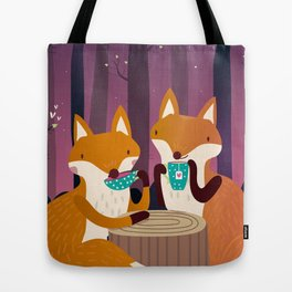 Tea time in the woods Tote Bag