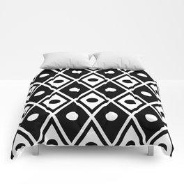 Harlequin Pattern Black & White Comforters
