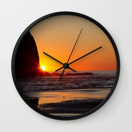 La Push Sunset Wall Clock