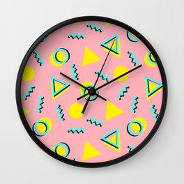 Memphis pattern 60 Wall Clock