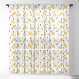 Retro Lemon Digital Print Sheer Curtain