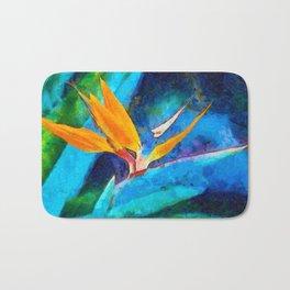 Bird Of Paradise Plant art Bath Mat