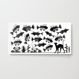 Cat Fish -The Other Side of Eve Metal Print