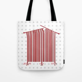 The New Year's bar code is made by knitting needle Tote Bag