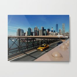 New York Skyline / Brooklyn Bridge Metal Print