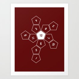 Unrolled D12 Art Print