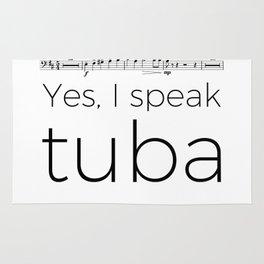 Tuba rests (white) Rug