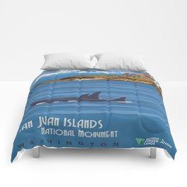 Vintage poster - San Juan Islands Comforters