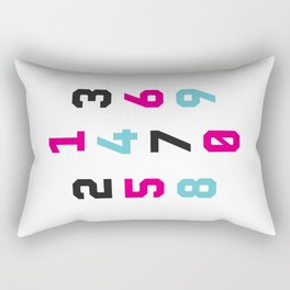 Typography Numbers #1 Rectangular Pillow