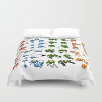 robots Duvet Covers featuring Robots by Artysmedia
