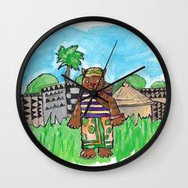African Cat Wall Clock