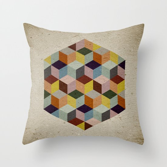 Dimension Throw Pillow