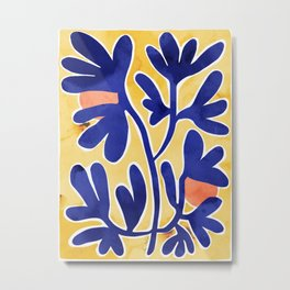 Inspiration Matisse blue leaves Metal Print