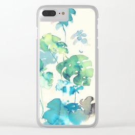 Tropical Leaves Collab. Dylan Silva Clear iPhone Case