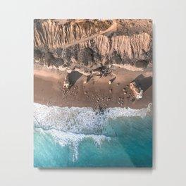 Aerial view of El Matador Beach in Malibu, CA Metal Print