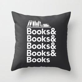 Books & Books & Books Throw Pillow